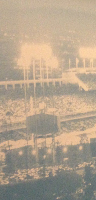 Historical photo of an old ballpark.