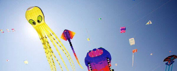 The sky above was completely filled with kites!