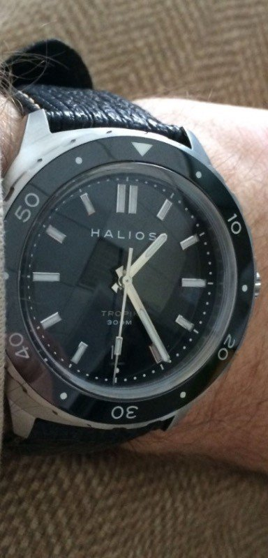 My Halios divers watch in action.