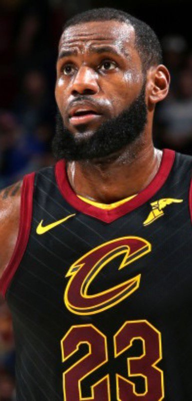 LeBron James of the Cleveland Cavaliers.
