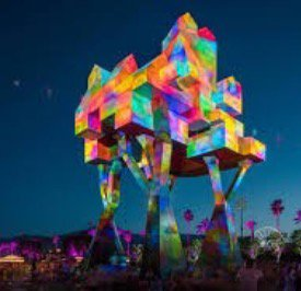 Awesome light sculpture at Coachella.